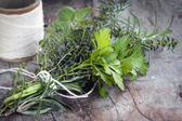 Bouquet Garni Fresh Herbs — Stock Photo