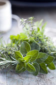 Fresh Herbs Bouquet Garni — Stock Photo
