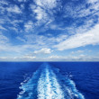Ocean Wake from Cruise Ship — Stock Photo