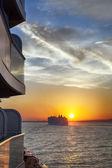 Cruise Sunset — Stock Photo