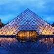 Постер, плакат: Louvre Pyramid on Rainy Night