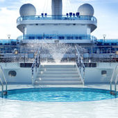 Cruise ship Pool Deck — Stock Photo