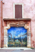 Painted Doorway Roussillon France — Stock Photo