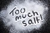 Demasiada sal — Foto de Stock