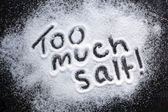 Too Much Salt — Stock Photo