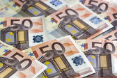 Euro Notes Background — Stock Photo