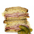 Reuben Sandwich Isolated on White — Stock Photo #51274649
