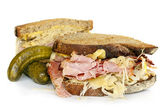 Reuben Sandwich Isolated on White — Stock Photo