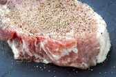 Seasoned Pork Chop — Stock Photo