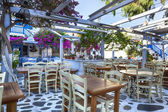 Greek Taverna Mykonos — Stock Photo