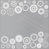 Grey gear background — Stock Vector