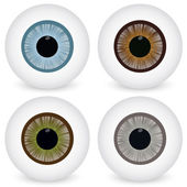 Eye ball set — Stock Vector