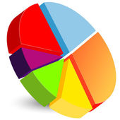Pie chart icon — Stock Vector
