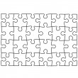 Puzzle template. Background for your business presentation. — Imagens vectoriais em stock