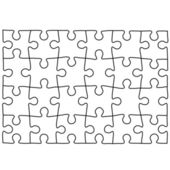 Puzzle template. Background for your business presentation. — Stock Vector