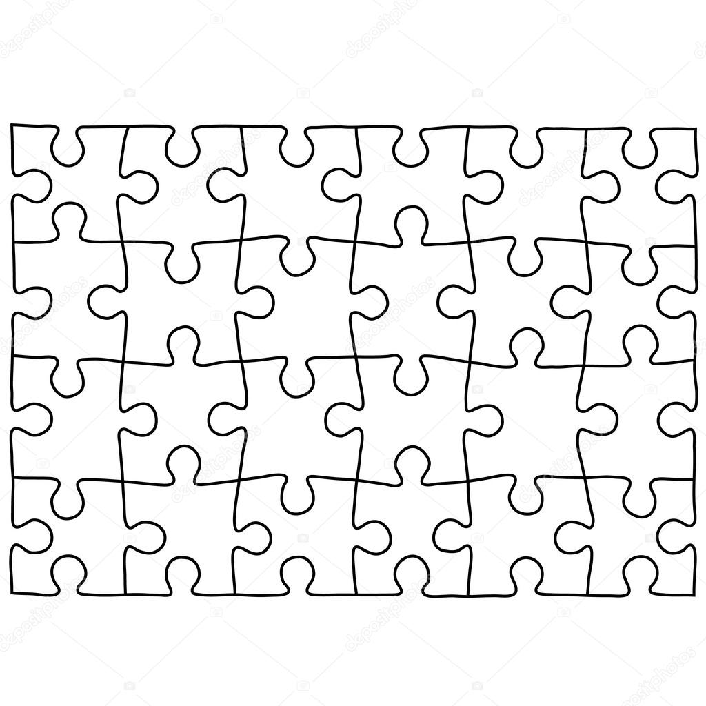 Puzzle template. Background for your business presentation. — Stock ...