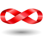 Red infinity symbol — Stock Vector