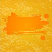 Orange platsch background — Stockvektor