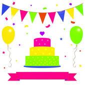 Birthday party card — Stock Vector