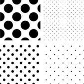 Polka dot seamless pattern set — Stock Vector