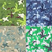 Set of camouflage military background. Seamless pattern — Stockvektor