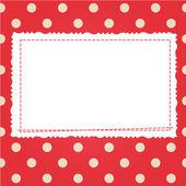 Scrap card with polka dot and frame — Stockvektor