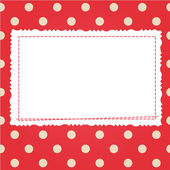 Scrap card with polka dot and frame — Stock Vector