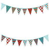 Bunting background in flat style. — Stock Vector