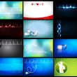 Medical business cards/wallpapers - Stock vektor
