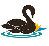 El cisne — Vector de stock