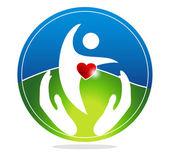 Healthy heart symbol. — Stock Vector
