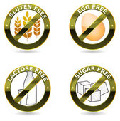 Beautiful diet icons. — Stock Vector