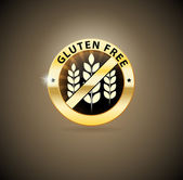 Golden gluten free sign — Stock Vector