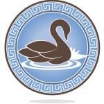 Swan ornament — Stock Vector
