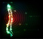 Concepto de dolor de espalda — Vector de stock