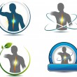 Постер, плакат: Human back spine healthcare symbols