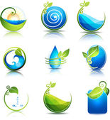Nature and water symbols — Stock Vector