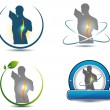 ������, ������: Human back spine healthcare symbols