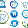 Stock Vector: Teeth symbols