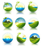 Nature concepts — Stock Vector