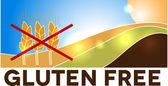 Gluten free design, landscape — Stock Vector