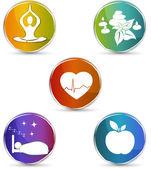 Health symbols — Stock Vector