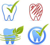 Teeth symbols — Stock Vector