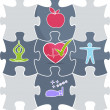 Постер, плакат: Healthy lifestyle puzzle