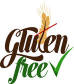 Gluten free message — Stock Vector