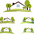 House and garden — Stock Vector #30444103