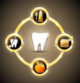 Gesunde zähne-rad — Stockvektor