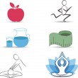 Healthy lifestyle symbol collection — Stock Vector #31106909