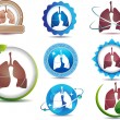 Stock Vector: Lungs symbol