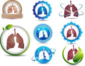 Lungs symbol — Stock Vector
